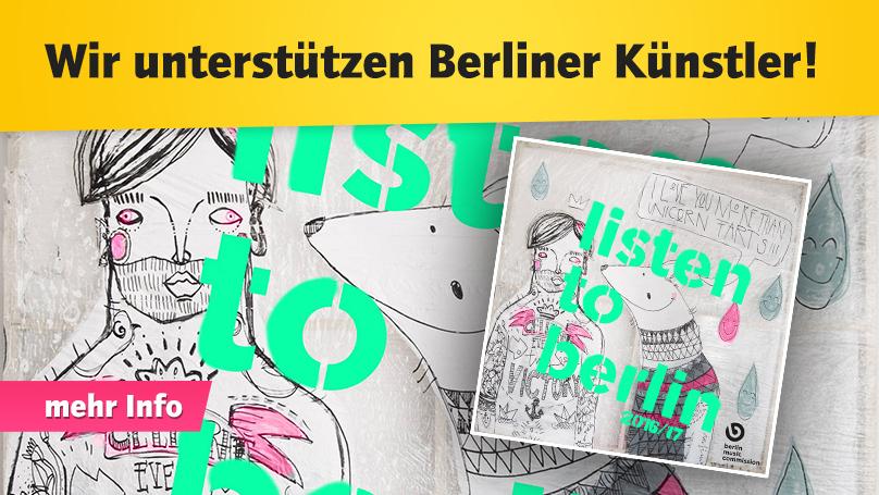 Wir unterstützen Berliner Künstler