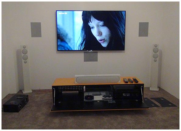 Und dann sieht es auf einmal so aus, wie ein TV/Video-Vorführraum.