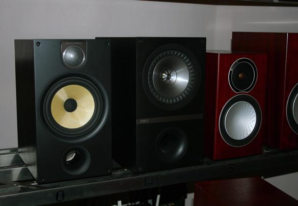 Kompaktboxen:  B&W 685S2, KEF Q300, Monitor Audio Silver 1