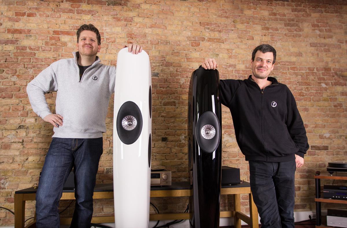 Frank und Johannes mit der KEF Blade und der KEF Blade Two