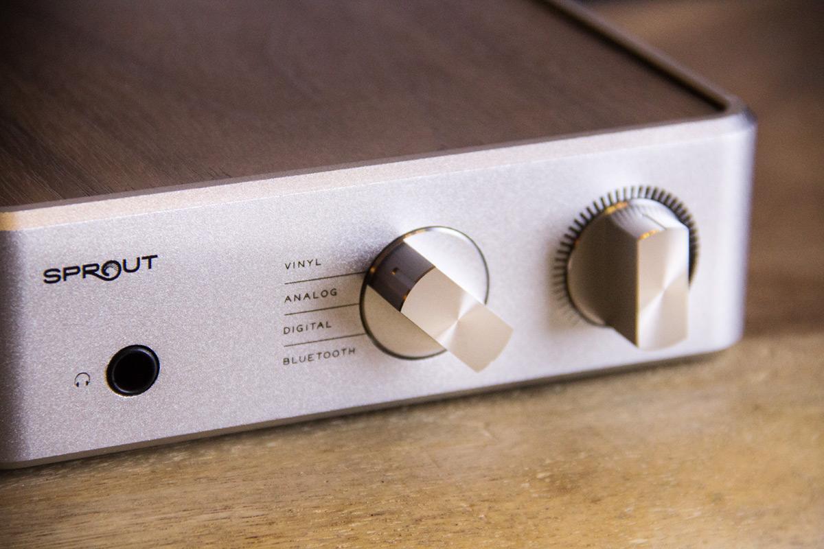 PS Audio Sprout Regler Nahaufnahme