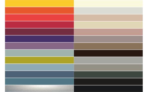 Farbauswahl für Spectral Twenty