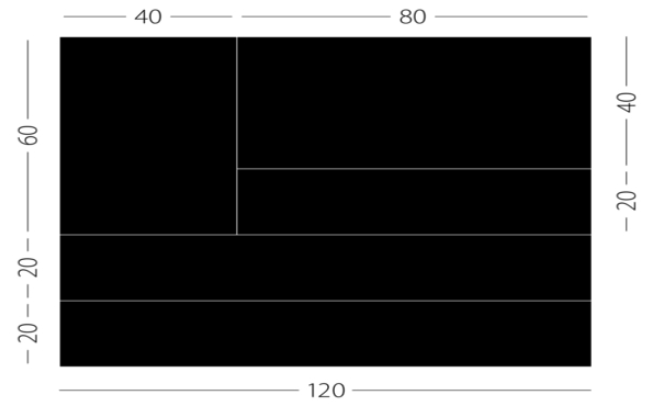 Spectral Twenty: 20 cm Rastermaß