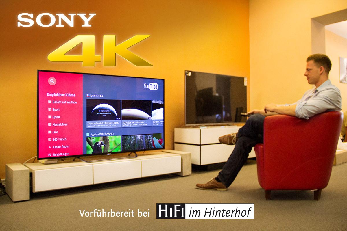 Der 2015er Sony KD-65X8508C in unserer Vorführung