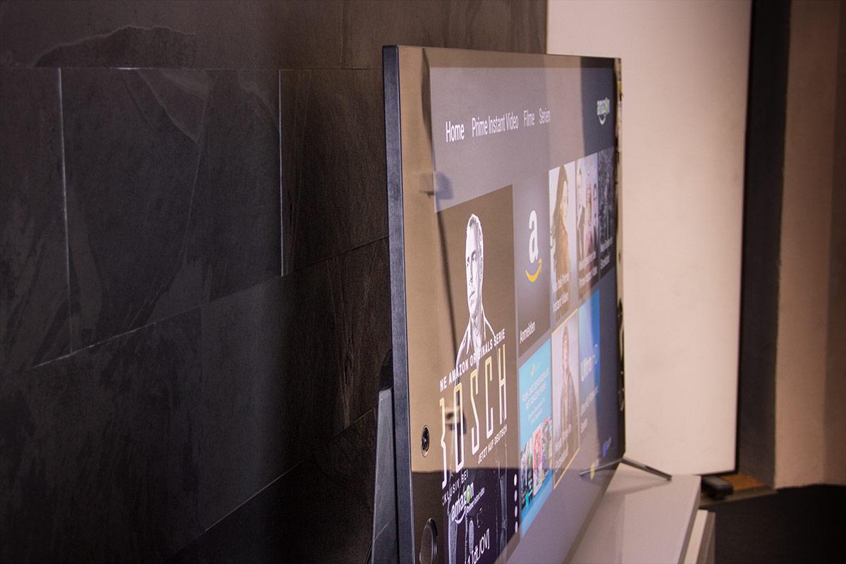 Trotz Wedge-Design ist der Sony KD-75X9405C äußerst schmal