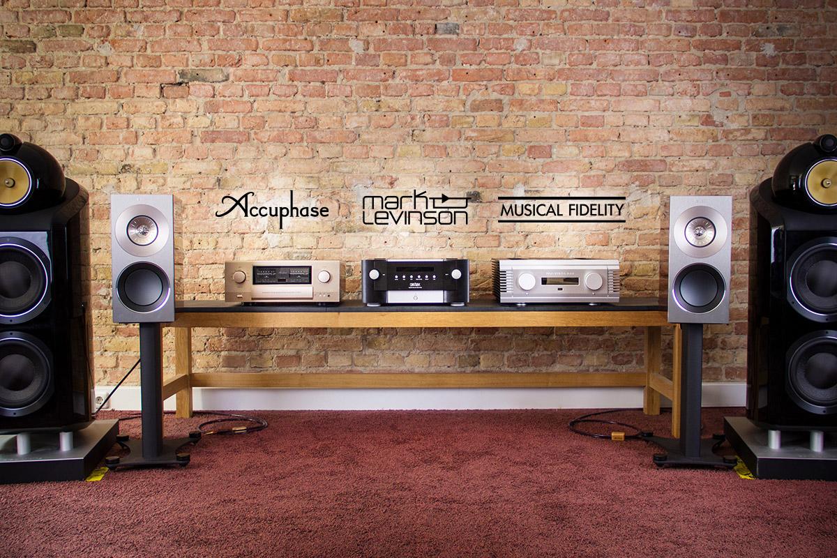 Accuphase E-600, Mark Levinson No. 585 und Musical Fidelity NuVista 800 bei HiFi im Hinterhof
