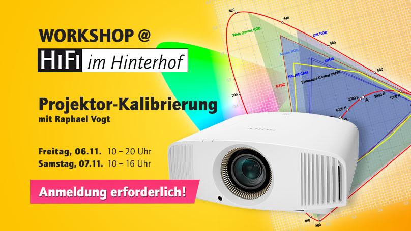 Projektor-Kalibrierung bei HiFi im Hinterhof mit Raphael Vogt