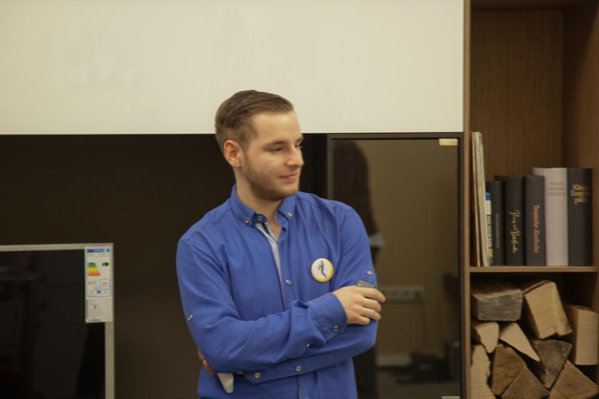 Unser Kollege Jean bei der Arbeit