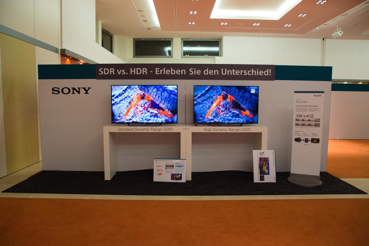 Sony Roadshow 2016: SDR- und HDR-Bild im Vergleich