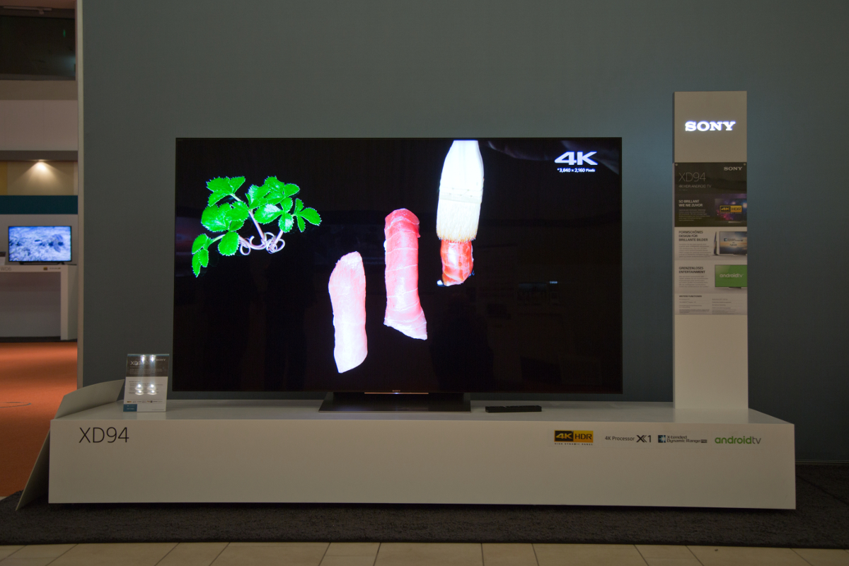 Der Sony XD94 auf der Sony Roadshow 2016