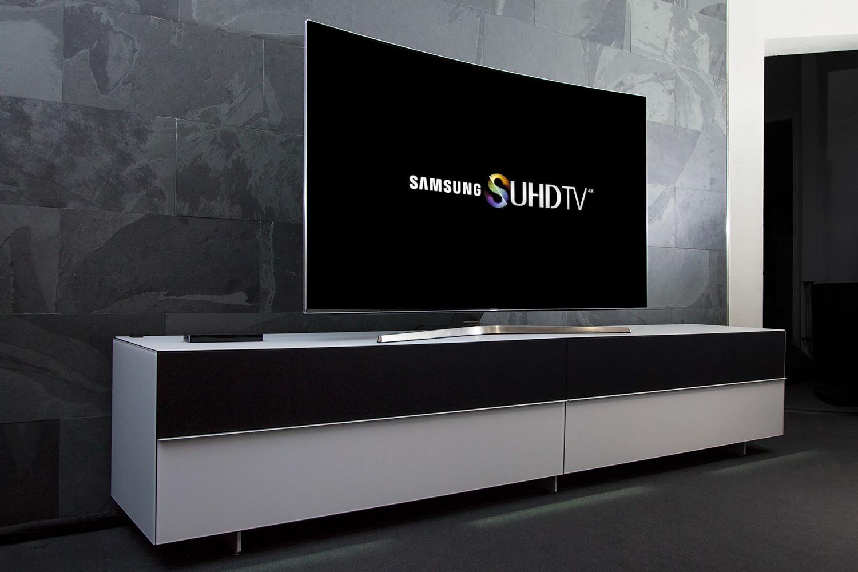 Der Samsung UE65KS9590 in unserer Vorführung