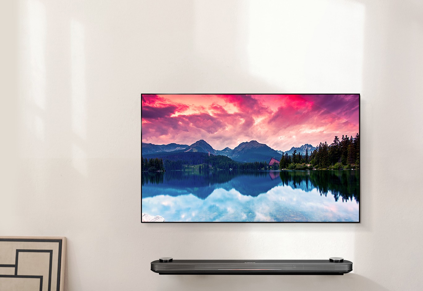 Picture-on-Wall Optik mit dem LG Signature OLED TV W