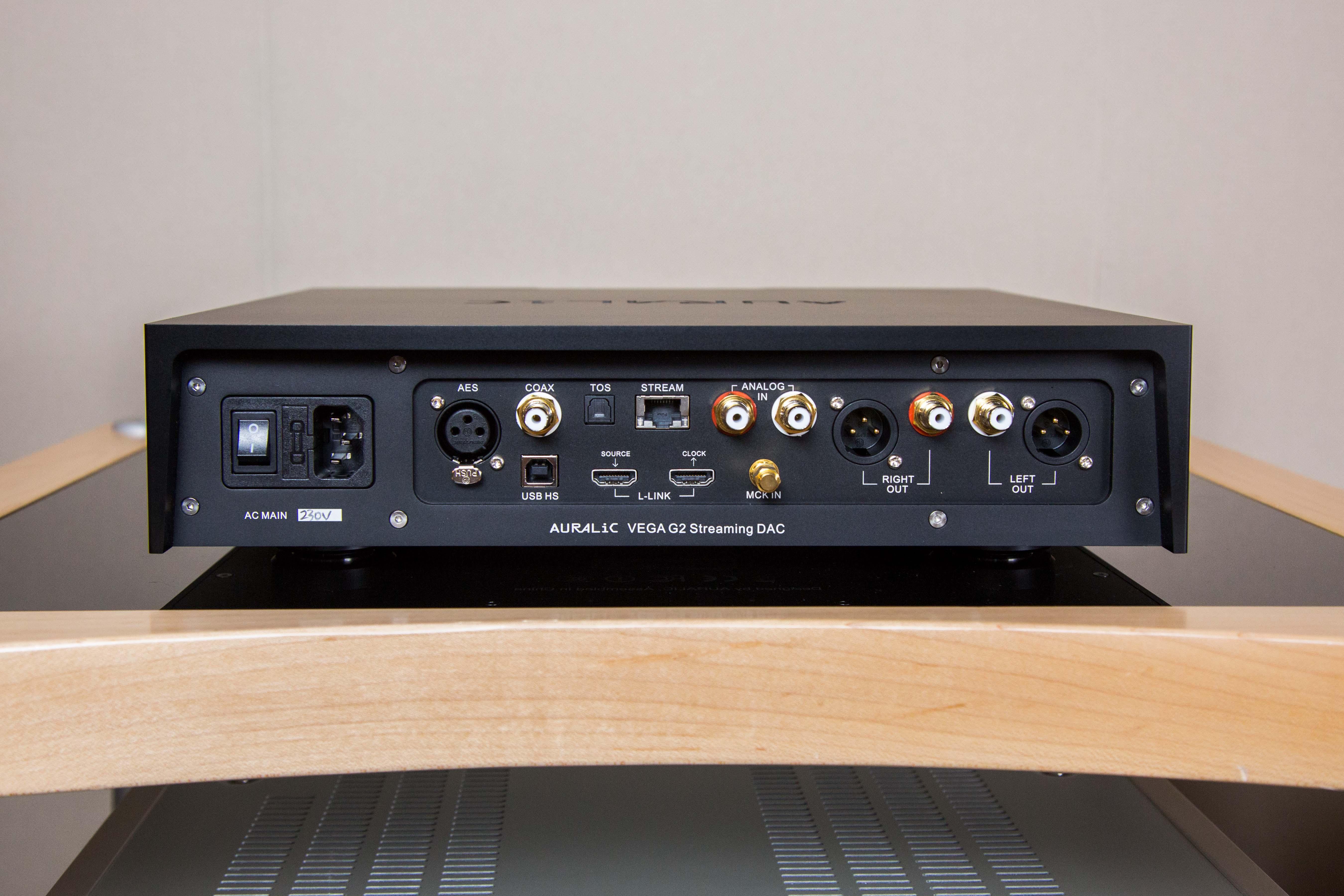 Der Auralic Vega G2 bietet eine Vielzahl unterschiedlicher Schnittstellen