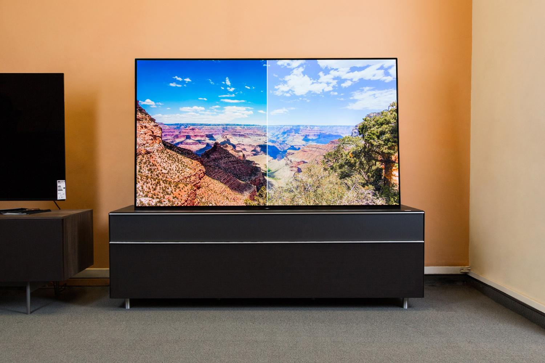 Vergleich eines Fernsehbildes nach und vor der Kalibrierung