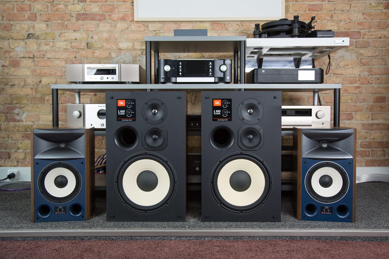 JBL L100 Classic und JBL 4306 bei HiFi im Hinterhof