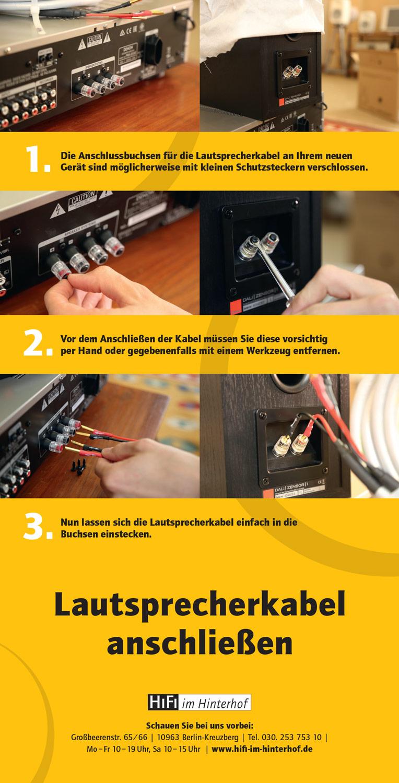 Lautsprecher und Verstärker mit Schutzsteckern