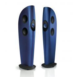 kef blade two standlautsprecher design punktschallquelle  blau