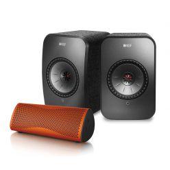 KEF LSX (Paar) + GRATIS Muo Bluetooth-Lautsprecher